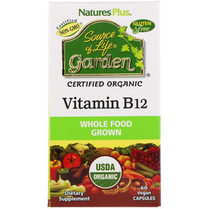 Vegan B12 - 60 Caps - Source of Life Nature's Plus