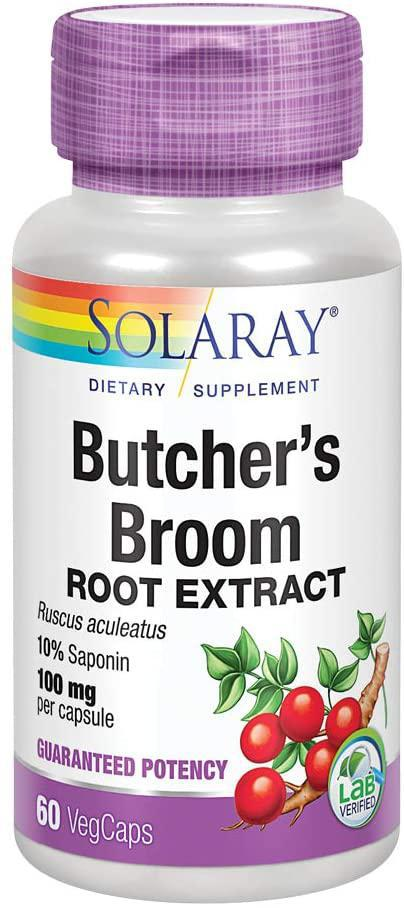 Butcher's Broom Root Extract - 100 mg - 60 Caps - Solaray