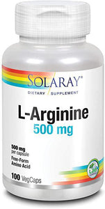 L-Arginine - 500 mg - 100 Caps - Solaray
