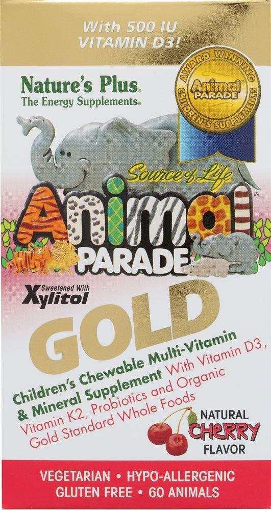 Animal Parade Gold Cherry Flavor - 60 Tab - Natures Plus