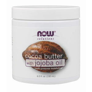 Cocoa Butter with Jojoba Oil - 6.5 fl oz - Now