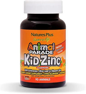 Animal Parade Kid Zinc Lozenges - 90 lozenges - Tangerine - Natures Plus