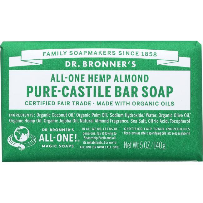 Pure-Castile Bar Soap - 5 oz - Dr. Bronner's