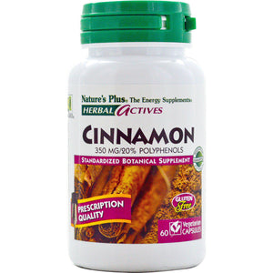 Cinnamon - 350mg - 60 Caps - Natures Plus