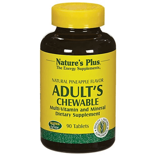 Adult's Chewable Multi-Vitamin - 90 Tabs - Natures Plus