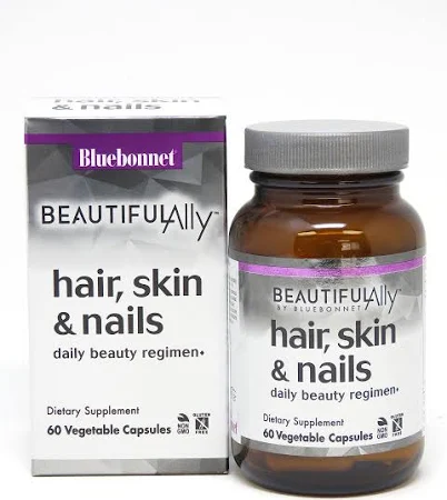 Hair Skin and Nails - 60 Caps - Bluebonnet
