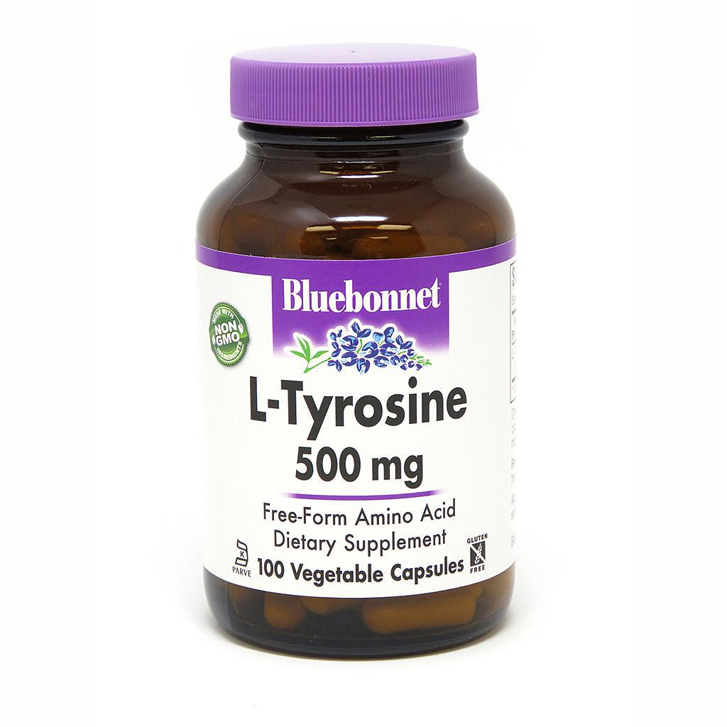 L-Tyrosine - 500 mg - 50 Caps - BlueBonnet