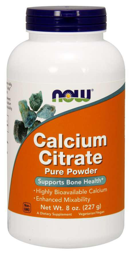 Calcium Citrarte Pure Powder - 8oz - Now