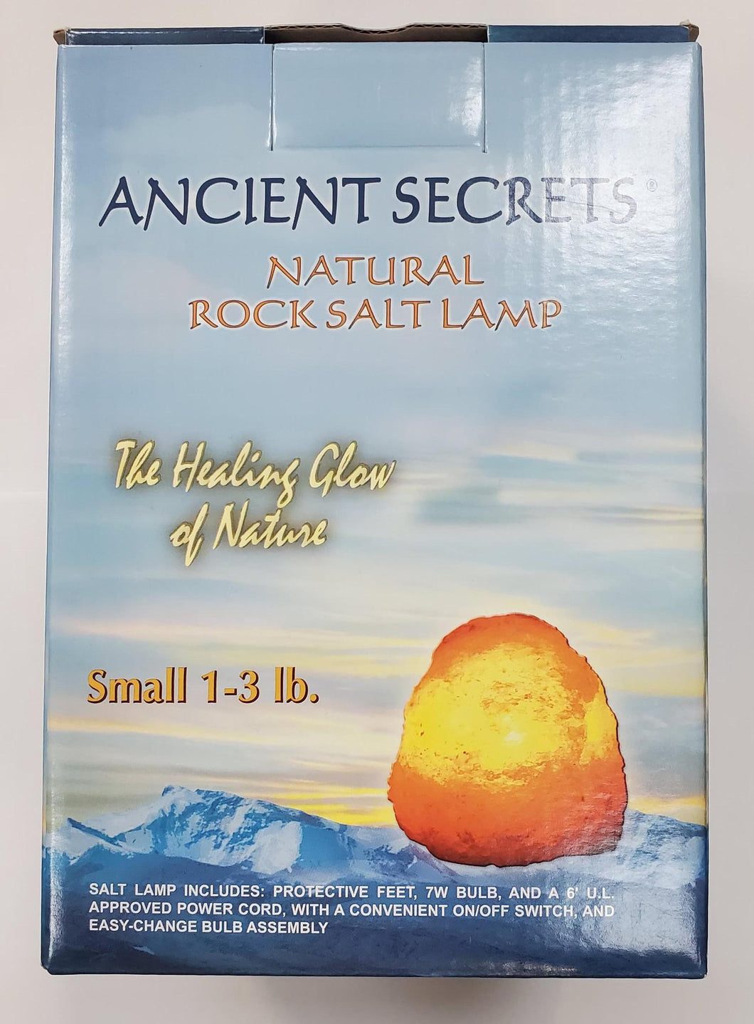 Rock Salt Lamp Small1-3lb - Ancient Secrets