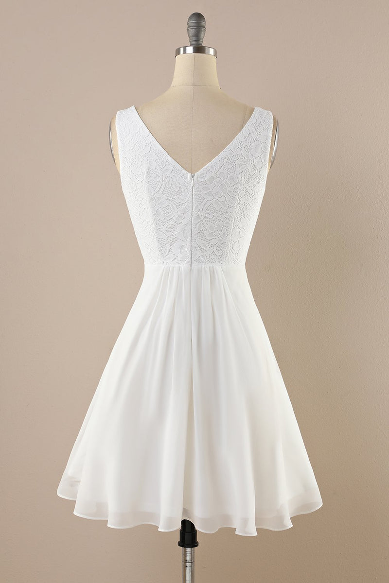 Load image into Gallery viewer, White Lace Chiffon Vintage Dress