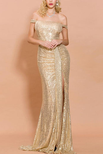 Sequin Memaid Long Prom Dress