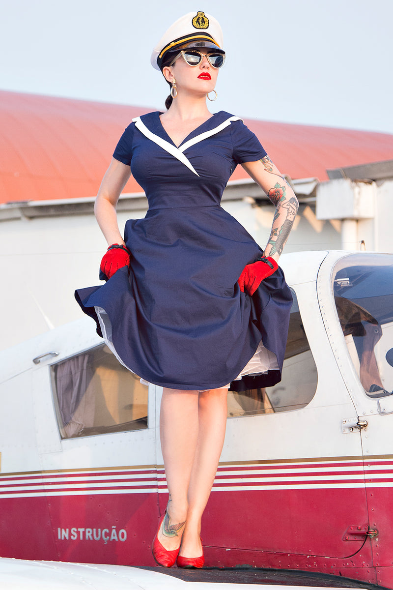 Load image into Gallery viewer, Navy Soldier Dress