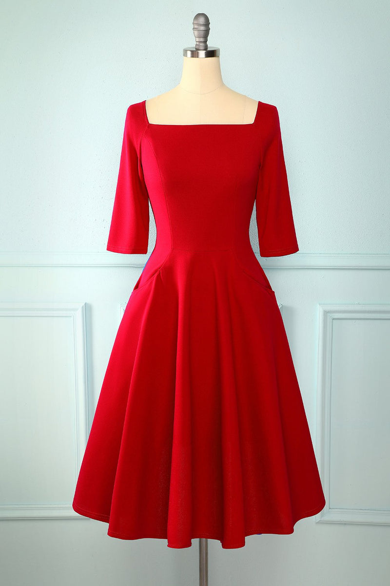 Load image into Gallery viewer, Long Sleeves Vintage Dress with Pocket