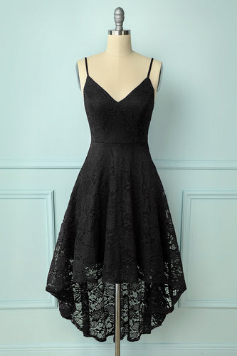 Straps Black Lace Dress