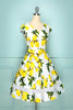 Load image into Gallery viewer, V-neck Lemon Print Dress
