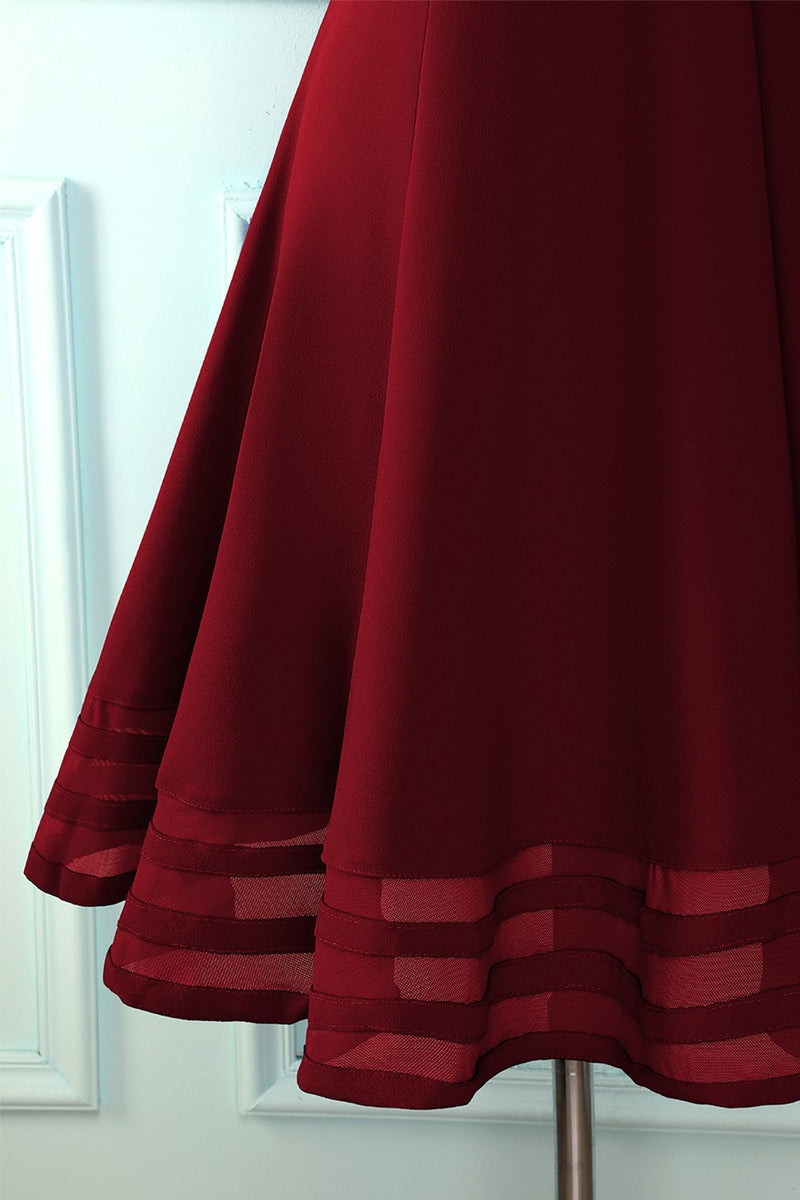 Load image into Gallery viewer, Solid Burgundy Midi Dress