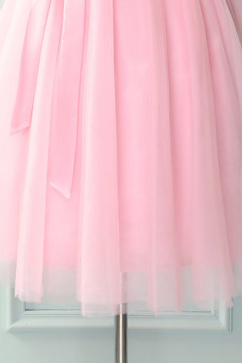 Pink Knee-Length Skirt
