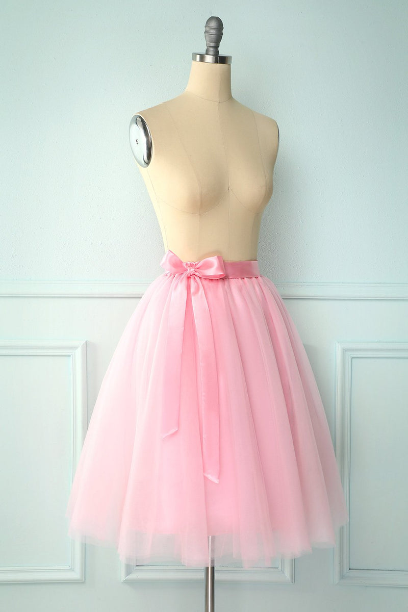 Load image into Gallery viewer, Pink Knee-Length Skirt
