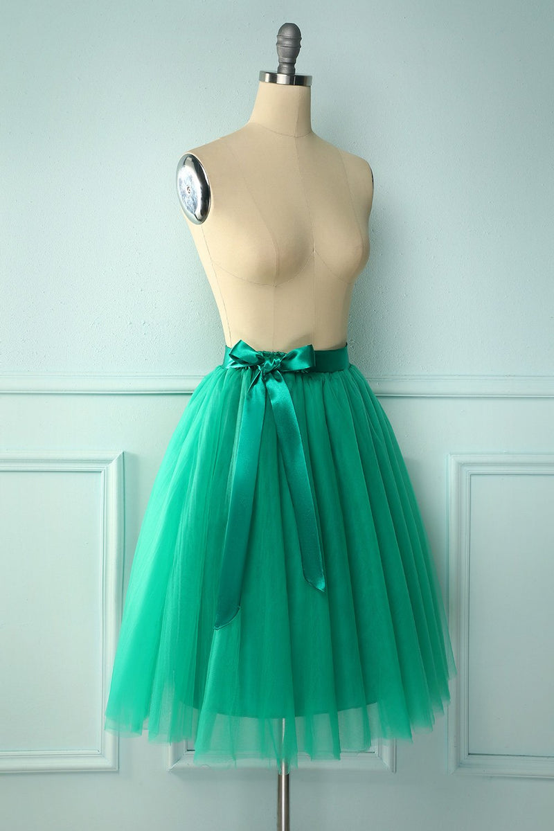 Load image into Gallery viewer, Green Knee-Length Skirt