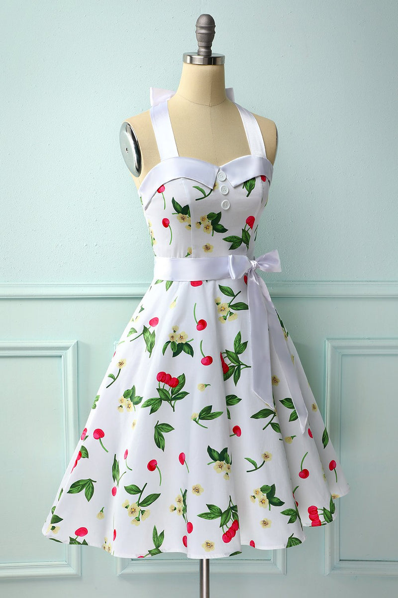 Load image into Gallery viewer, Cherry Pin Up Dress