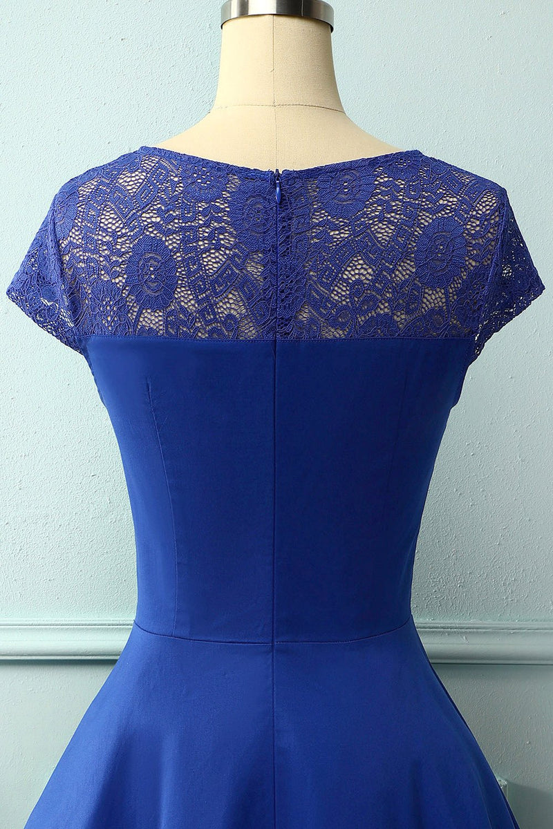 Load image into Gallery viewer, Royal Blue Lace Dress