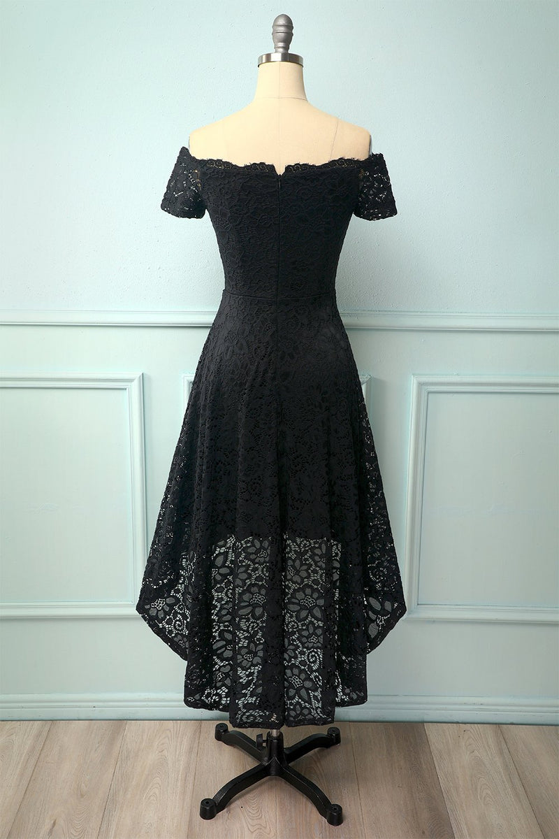 Load image into Gallery viewer, Black Off the Shoulder Dress