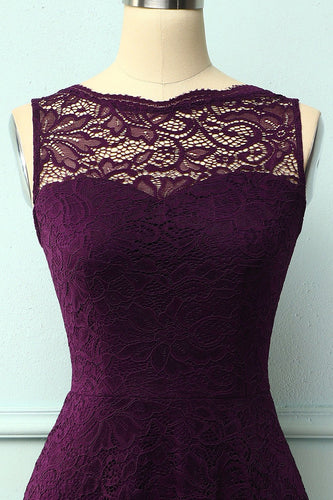 Lace Grape Formal Dress