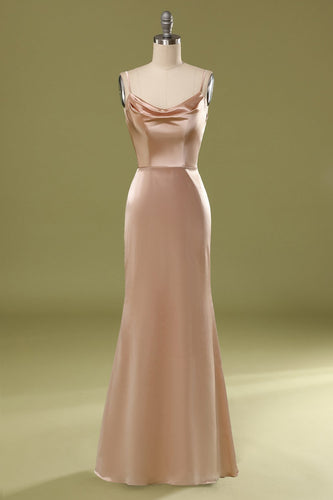 Champagne Satin Dress