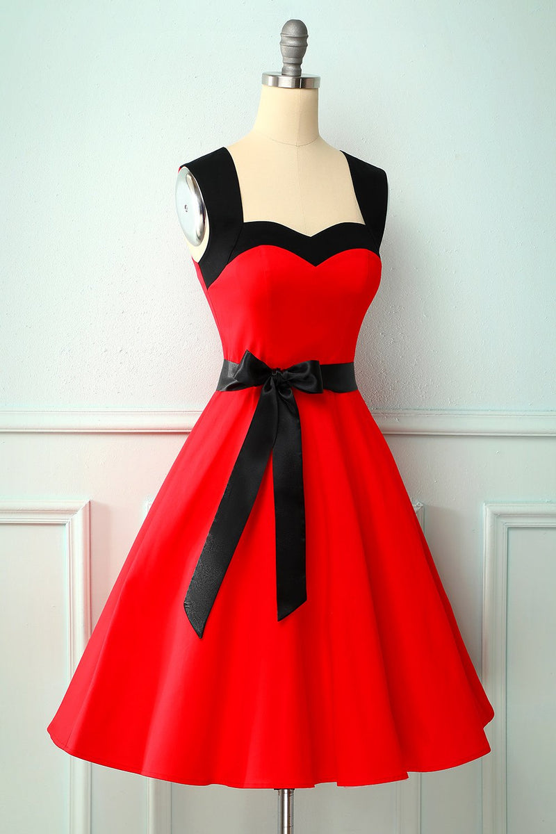 Load image into Gallery viewer, Vintage Red 1950s Style Dress