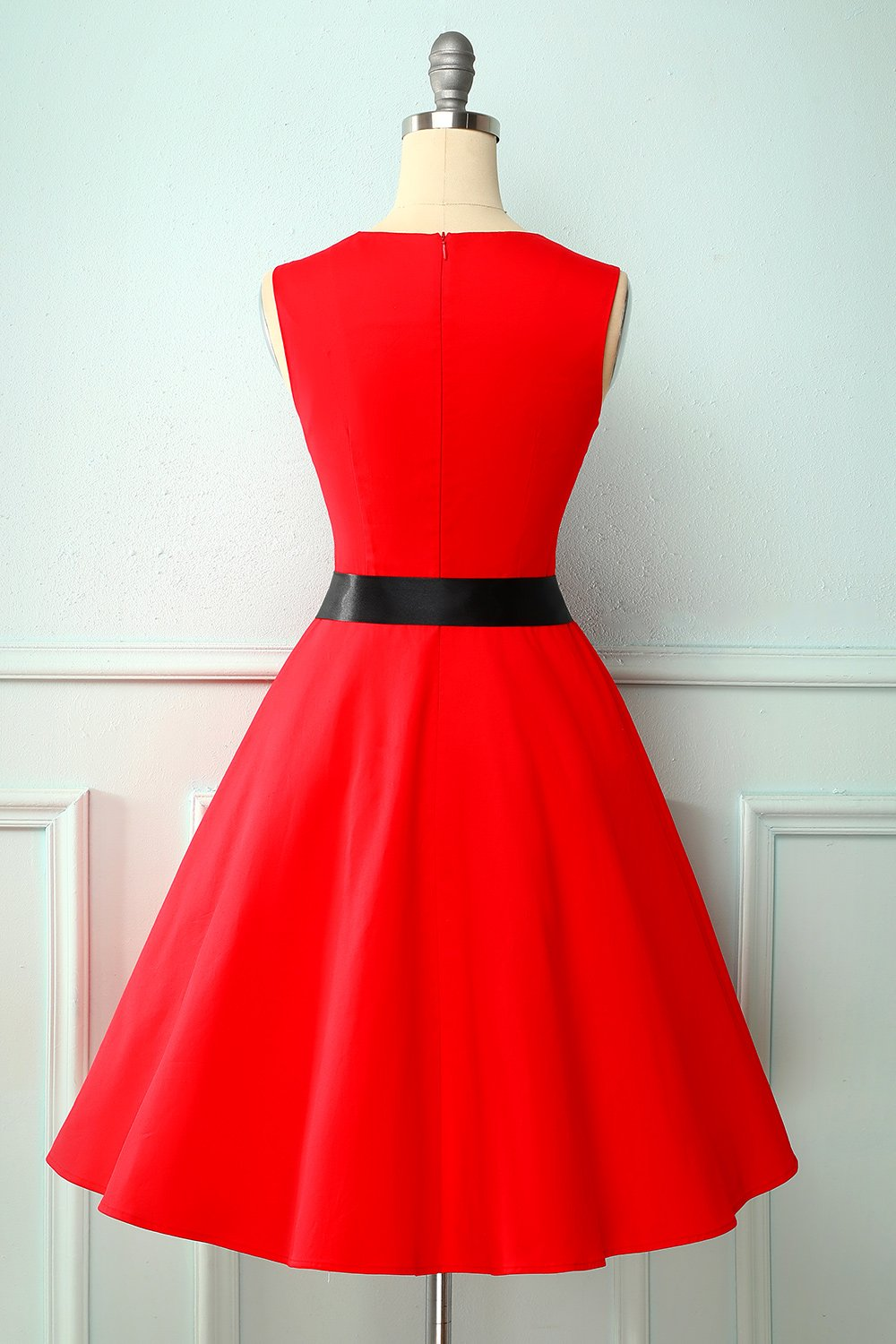 Vintage Red 1950s Style Dress