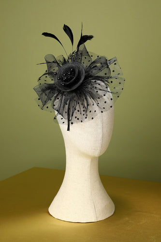 1920s Feather Tulle Headband