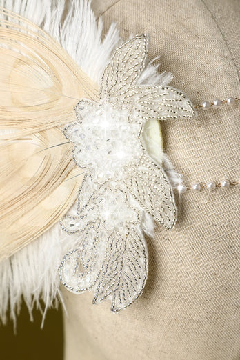 1920s Feather Sequin Flapper Headband