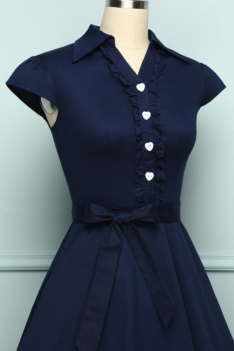 Load image into Gallery viewer, 1950s Navy Swing - ZAPAKA