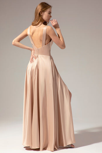 Satin Long Dress