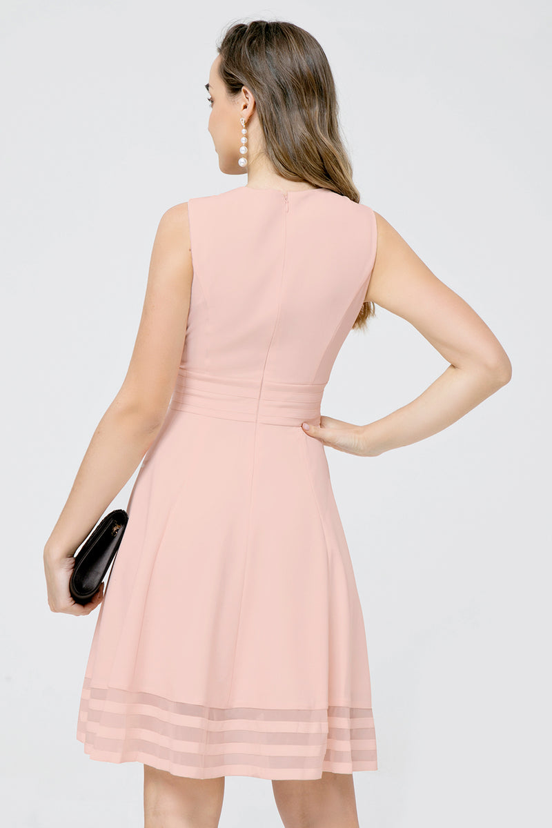 Load image into Gallery viewer, Solid Light Pink Midi Dress