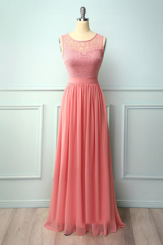 Blush Lace Long Dress