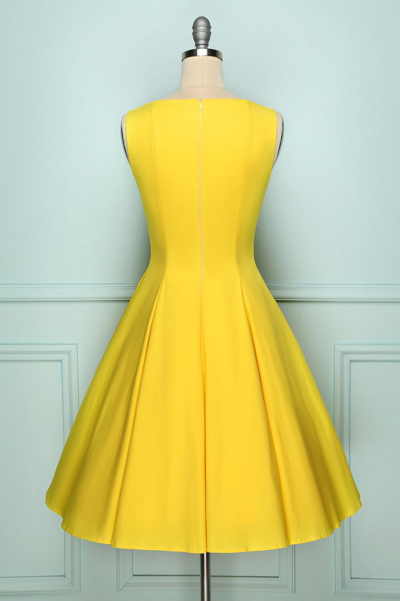 Load image into Gallery viewer, Yellow Button Up Dress