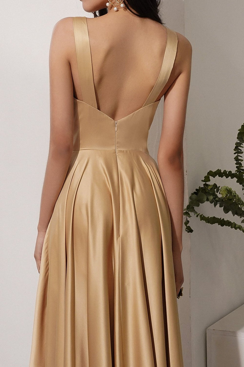 Load image into Gallery viewer, Satin Long Dress