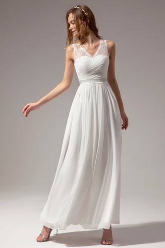 Ivory Long Bridesmaid Dress