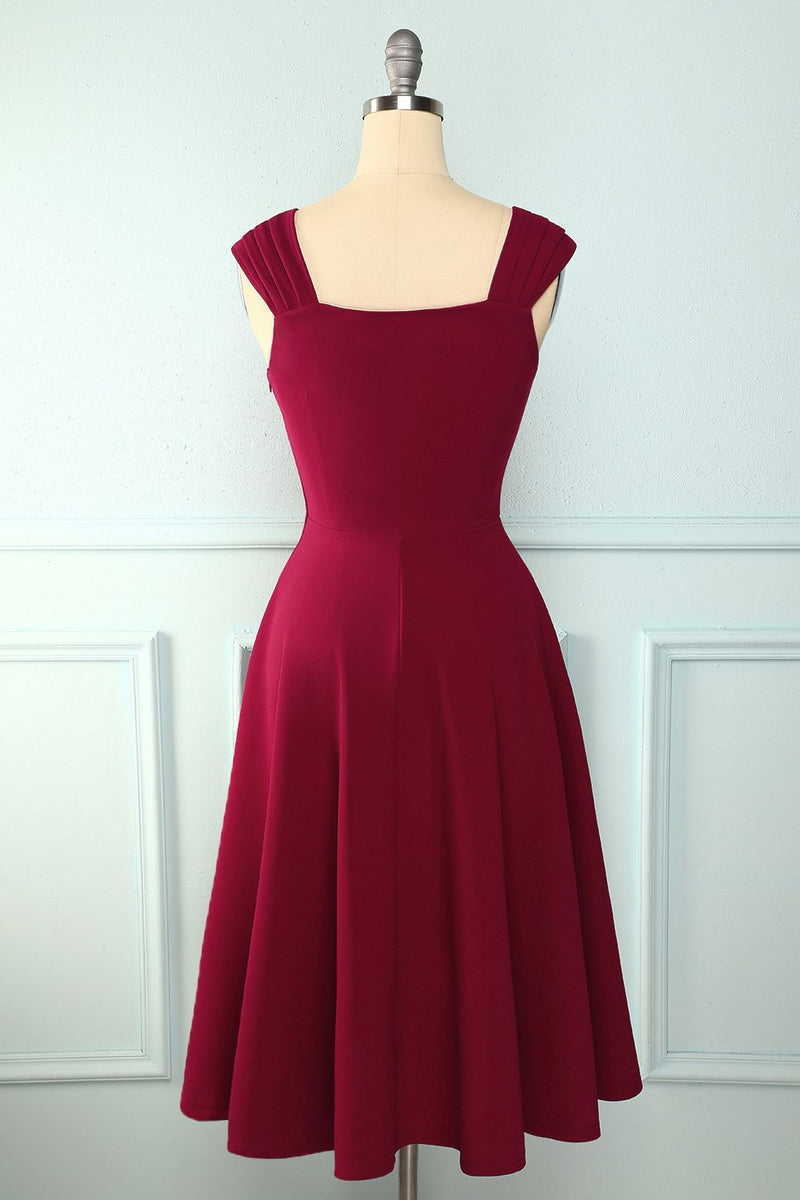 Load image into Gallery viewer, Burgundy Simple Dress