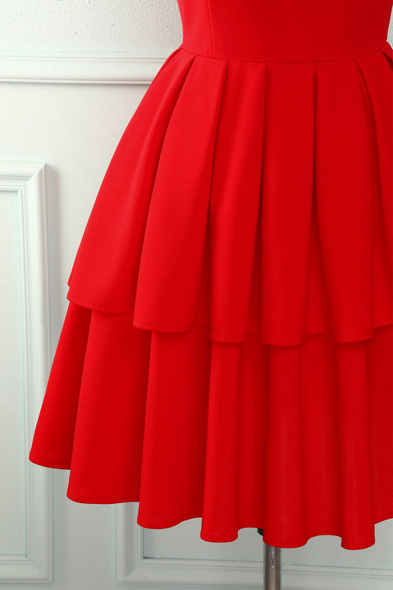 Load image into Gallery viewer, Red Tiered Dress