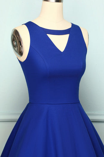 1950s Dress Royal Blue Swing