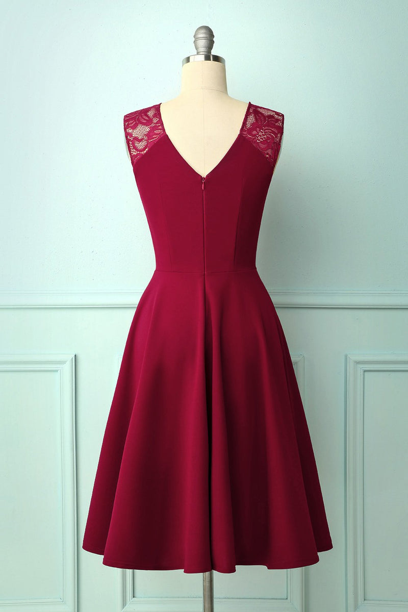 Load image into Gallery viewer, Vintage Burgundy Homecoming Dress