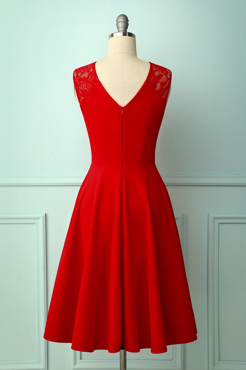 Load image into Gallery viewer, Vintage Red Homecoming Dress