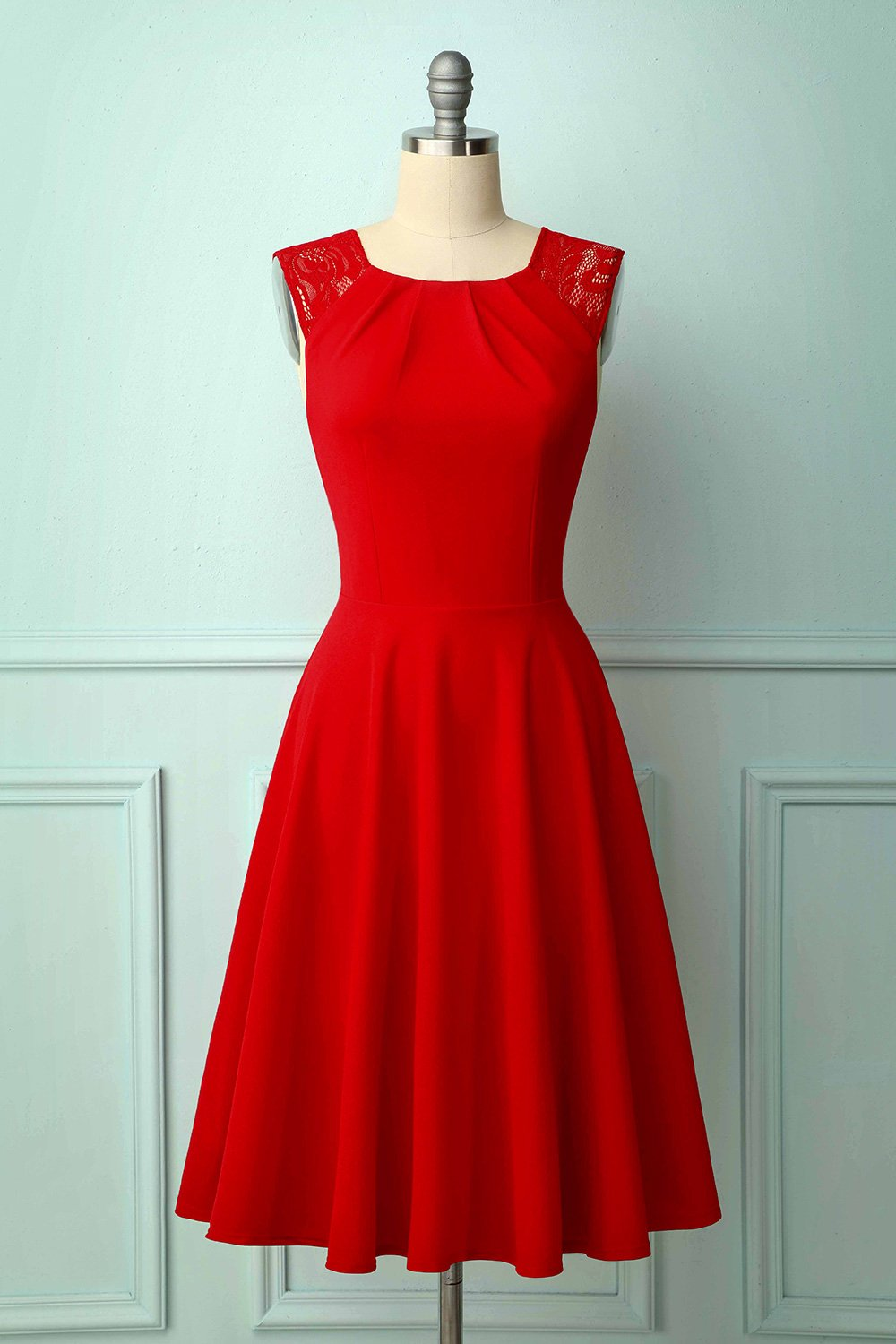 Vintage Red Homecoming Dress