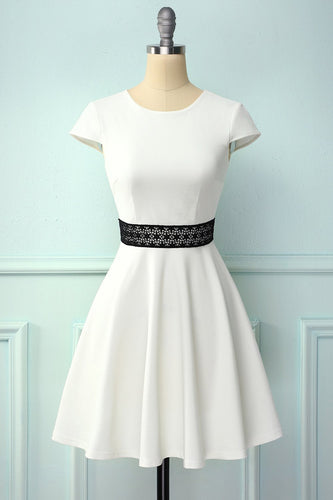 White Dress With Hollow Lace