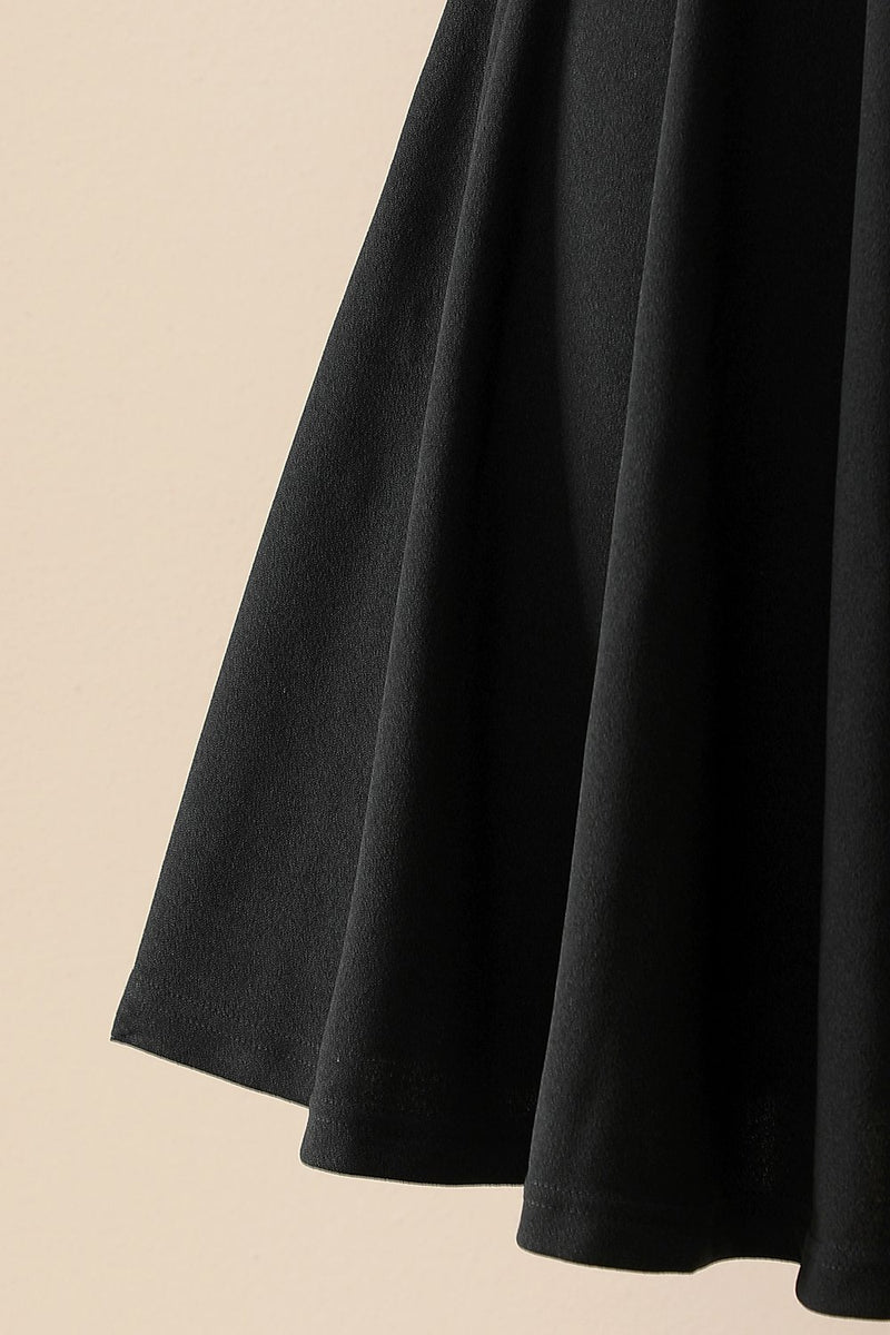 Load image into Gallery viewer, Black Stretchy Swing Dress
