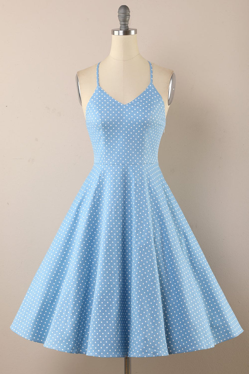 Load image into Gallery viewer, Polka Dots Vintage 1950s Dress