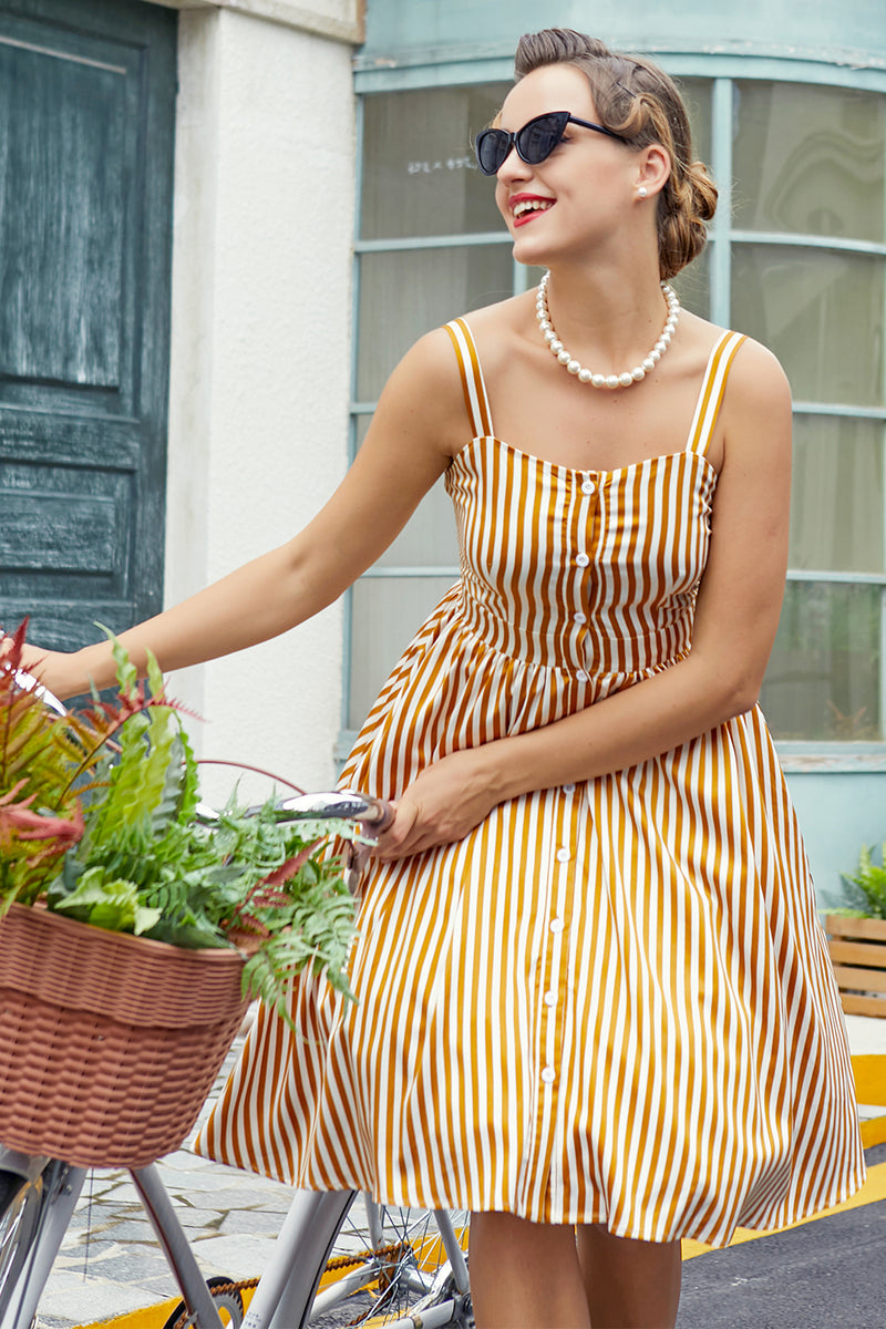 Load image into Gallery viewer, Striped Vintage Dress