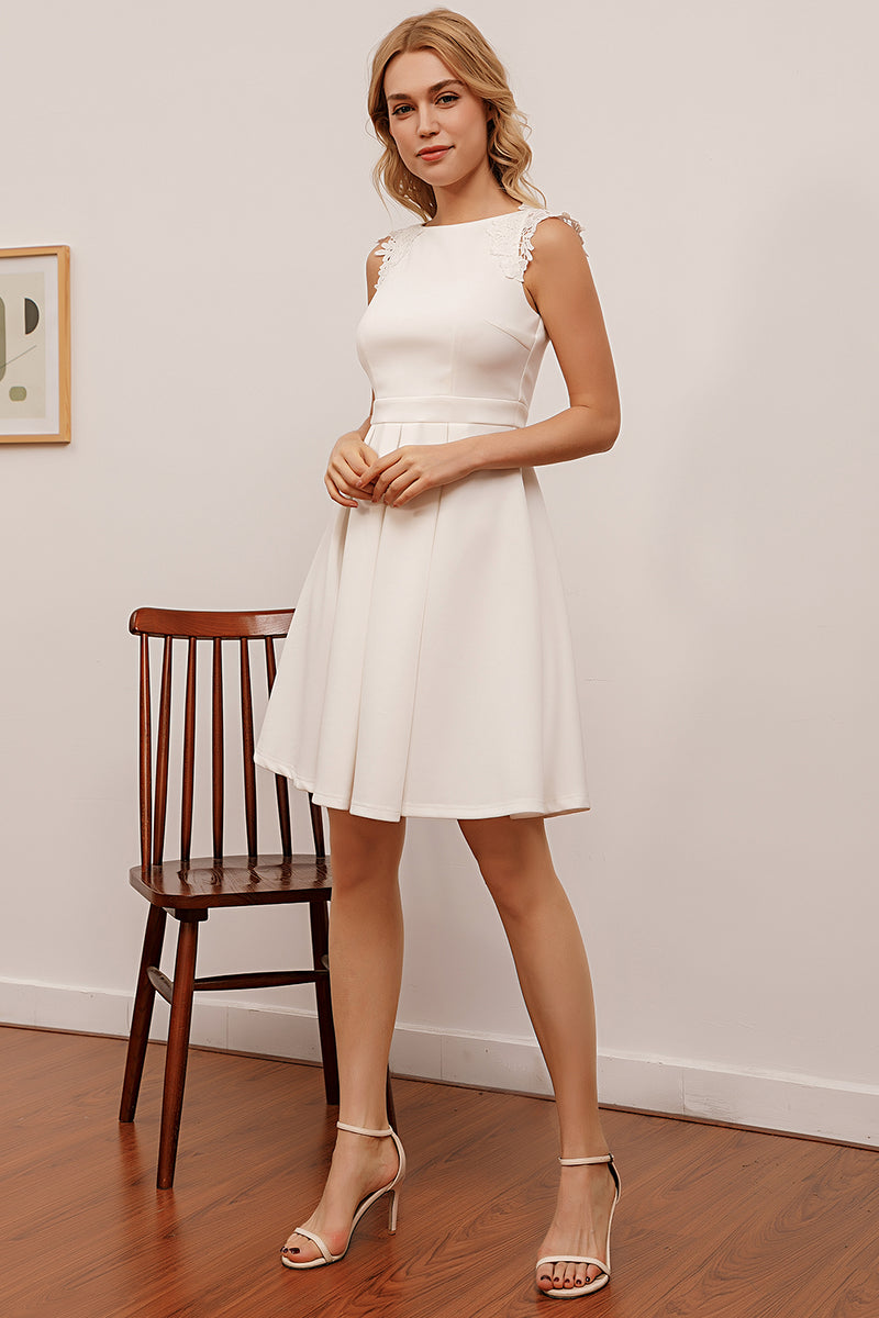 Load image into Gallery viewer, Simply White Dress with Lace